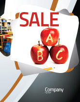 Education & Training: Apples ABC Sale Poster Template #05849