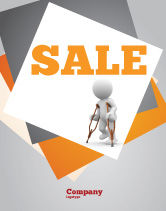 Medical: Cripple Person Sale Poster Template #05876