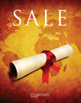 Careers/Industry: Treasure Map Sale Poster Template #05910