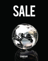 Global: Silver Globe Sale Poster Template #05921