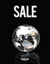 Global: Modèle d'Affiche de globe d'argent #05921