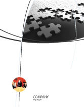 Consulting: Silver Puzzle Sale Poster Template #05940