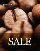 Food & Beverage: Coffee Beans In Brown Color Sale Poster Template #05941
