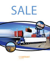 Cars/Transportation: Seaport Sale Poster Template #06007