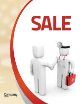 Medical: Patient and Doctor Sale Poster Template #06021