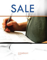 Medical: Manual Medical Record Sale Poster Template #06023