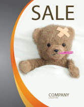 Medical: Wounded Teddy Bear Sale Poster Template #06030