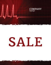 Medical: Heart Rhythm Sale Poster Template #06036