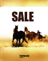 America: Life On Ranch Sale Poster Template #06046