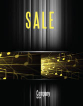 Art & Entertainment: Music Stave Sale Poster Template #06089