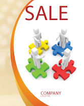 Business Concepts: Working Relationship Sale Poster Template #06096