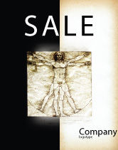 Education & Training: Vitruvian Man By Leonardo da Vinci Sale Poster Template #06107