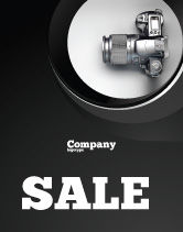 Careers/Industry: Digital Photo Camera Sale Poster Template #06121