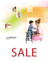 Medical: Paediatrics Sale Poster Template #06125