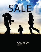 People: Family Happiness Sale Poster Template #06199