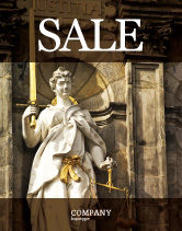 Legal: Lady Justice Sale Poster Template #06281