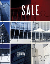 Consulting: Business Center Puzzle Sale Poster Template #06308