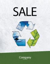 Nature & Environment: Modèle d'Affiche de recycler #06325