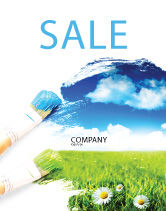 Nature & Environment: Painting Summer Sale Poster Template #06354