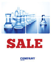 Business Concepts: Glass Chess Sale Poster Template #06365