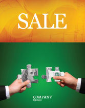 Financial/Accounting: Money Puzzles Sale Poster Template #06367