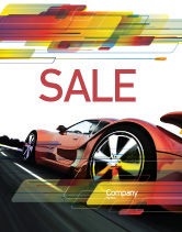 Cars/Transportation: Rode Supercar Poster Template #06454