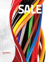 Telecommunication: Cables Sale Poster Template #06465