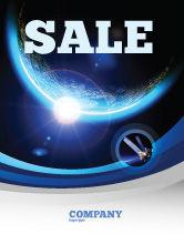 Technology, Science & Computers: Blauwe Zonsondergang In De Ruimte Poster Template #06527