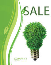 Technology, Science & Computers: Plantilla de póster - lámpara eco ecológica #06530