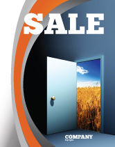 Consulting: Open Door To The World Sale Poster Template #06533