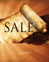 Education & Training: Ancient Scroll Sale Poster Template #06539