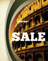 Construction: Colosseum Sale Poster Template #06549