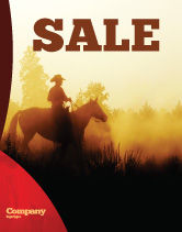 America: Cowboy Rider Sale Poster Template #06571