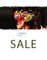 Holiday/Special Occasion: Carnival Dragon Sale Poster Template #06572