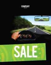 Cars/Transportation: High Speed Driving Sale Poster Template #06591