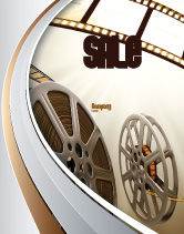 Art & Entertainment: 薄膜卷轴为浅棕色海报模板 #06599