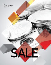 Financial/Accounting: Monetary Reserves Sale Poster Template #06600