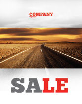 Cars/Transportation: Highway In Sepia Sale Poster Template #06629