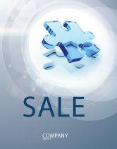 3D: Blank Jigsaw Sale Poster Template #06631