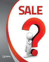 Consulting: Question Mark Sale Poster Template #06651