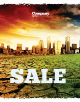Nature & Environment: Bad Ecology City Sale Poster Template #06687