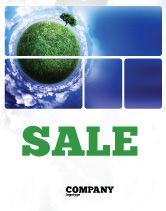 Nature & Environment: Green Planet In the Space Sale Poster Template #06693