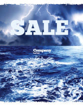 Nature & Environment: Royal Blue Sea Sale Poster Template #06725