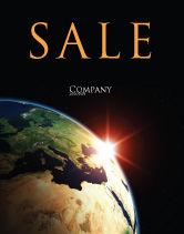 Global: Modelo de Cartaz - nascer do sol no espaço #06729