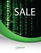 Telecommunication: Matrix Code Stream Sale Poster Template #06754