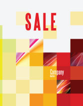 Abstract/Textures: Pixel Mosaic Sale Poster Template #06766