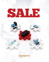 Technology, Science & Computers: Central Computer Server Sale Poster Template #06779