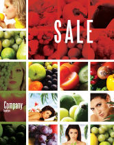 Food & Beverage: Nutrition Sale Poster Template #06856