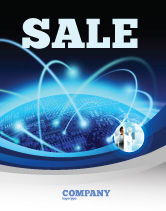 Technology, Science & Computers: World Infosphere Sale Poster Template #06885