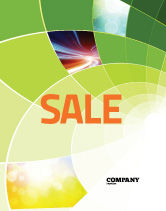 Abstract/Textures: Abstract Green Sections Sale Poster Template #06895